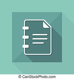 Document text - Minimal vector icon