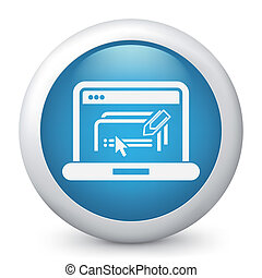 Illustration of text software document icon