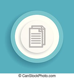 document vector blue icon