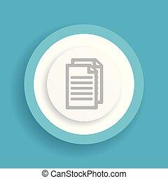 document vector blue icon