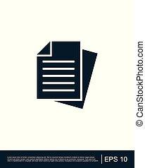 Document - vector icon
