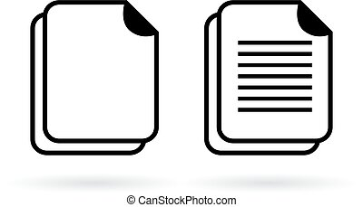 Document vector icon