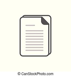 Document vector icon. Illustration isolated for graphic and web design.