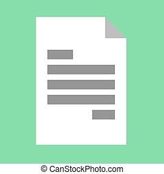Document vector icon.