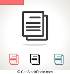 document vector icon isolated on white background