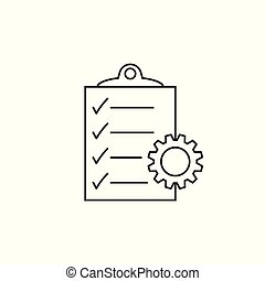 Document vector icon. Project management flat illustration.