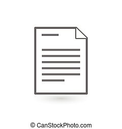 Document vector icon. vector illustration isolated on white background.