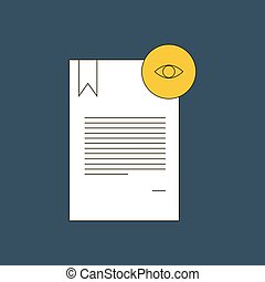 Document vector illustration