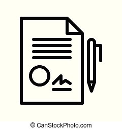 Document vector, insurance related line style editable stroke icon