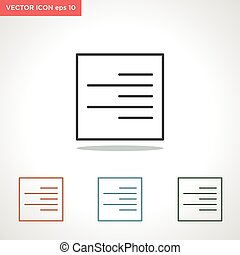 document vector line icon isolated on white background