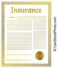document, verzekering, wettelijk