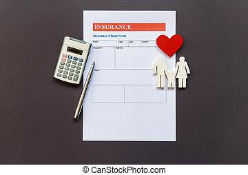 document, vie, politique, assurance, famille, formulaire, modèle