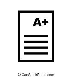 Document with A Plus Icon - vector iconic design