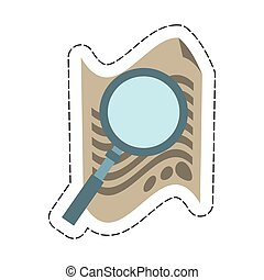 document with magnifying glass icon image