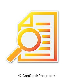 Document with magnifying glass icon - vector