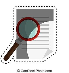 document with magnifying glass