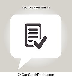 document with ok vector icon