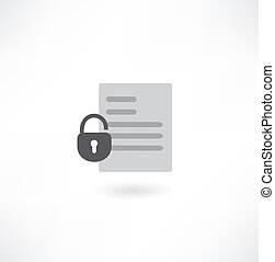 document with the lock icon