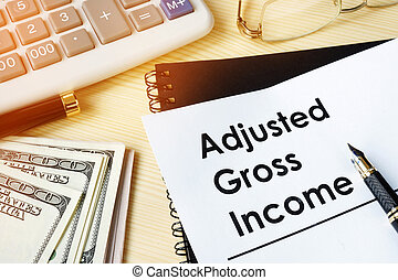 Document with title Adjusted gross income AGI.