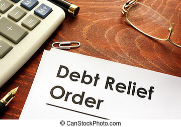 Document with title Debt relief orders DRO.