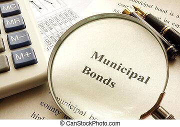 Document with title municipal bond.