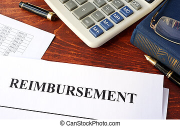 Document with title reimbursement. - Document with title...