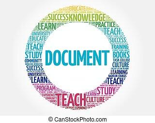 document, woord, wolk