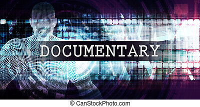 Documentary Industry with Futuristic Business Tech...