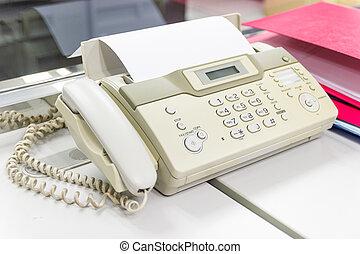 documenten, verzending, kantoor, faax machine