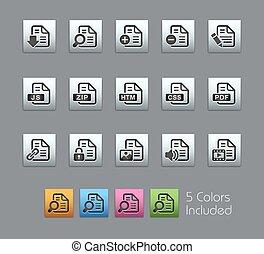 documenti, icone, satinbox, -, /, 1, 2