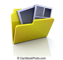 documenti, mio, icona