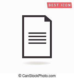 documento, ícone
