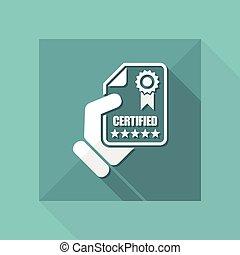 documento, certificado, ícone