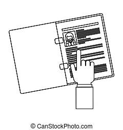 documento, disegno, risorse umane