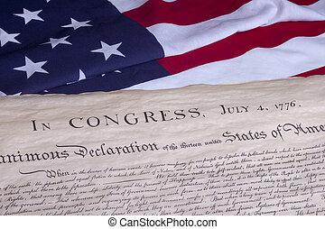 documento, histórico, constituição eua