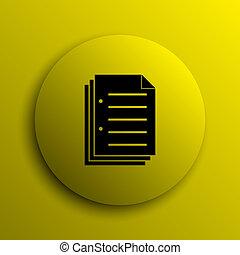 documento, icono