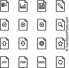 documento, jogo, arquivo, ícone