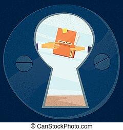 documento, panama, segreto, cartella, carte, dare, mani