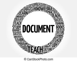 documento, parola, nuvola