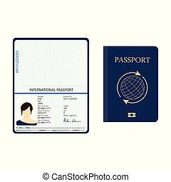 documento, passaporte, identificação