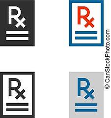 documento, rx, iconos