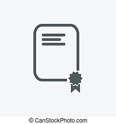 documento, sigillo, icona