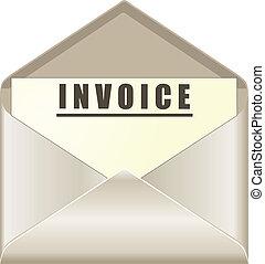 documento, sobre, factura