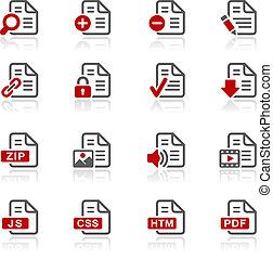 documentos, ícones, -, 1, --, redico, serie