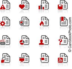 documentos, ícones, -, 2, --, redico, serie