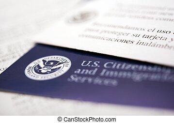 documentos, imigração