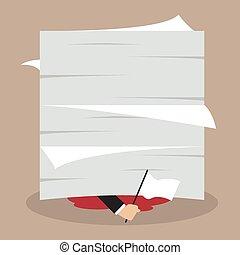 documentos, mostrar, bandeira, lote, sob, homem negócios,...