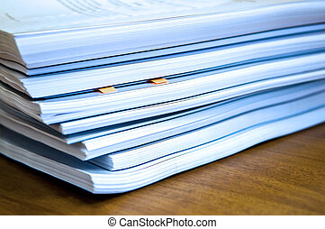 documentos, pilas