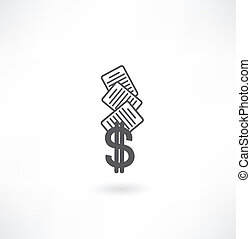 documents and Dollar icon