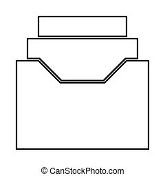 Documents archive or drawer it is black icon . Flat style